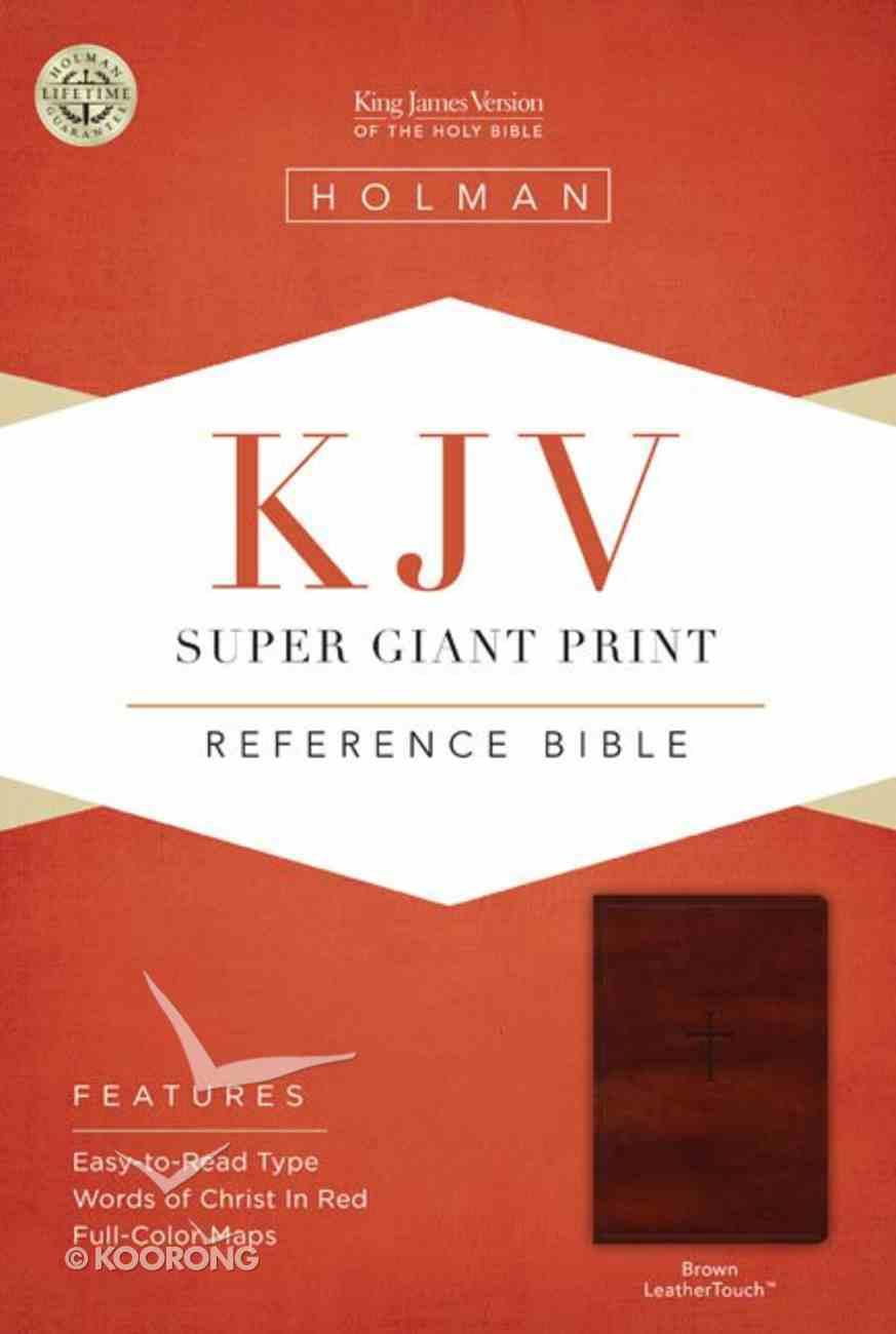 KJV Super Giant Print Reference Bible Brown Imitation Leather