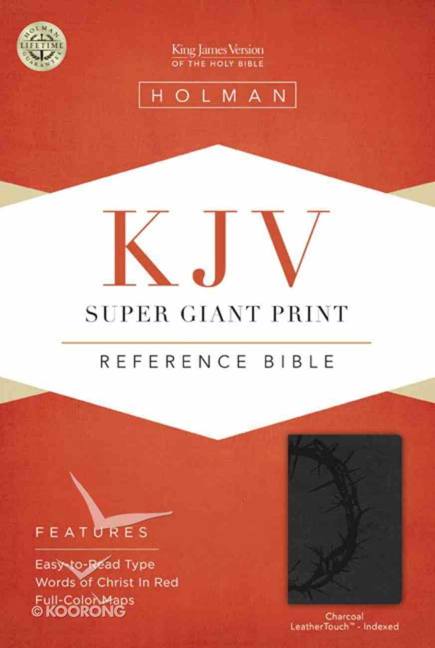 KJV Super Giant Print Reference Bible Charcoal Indexed Imitation Leather