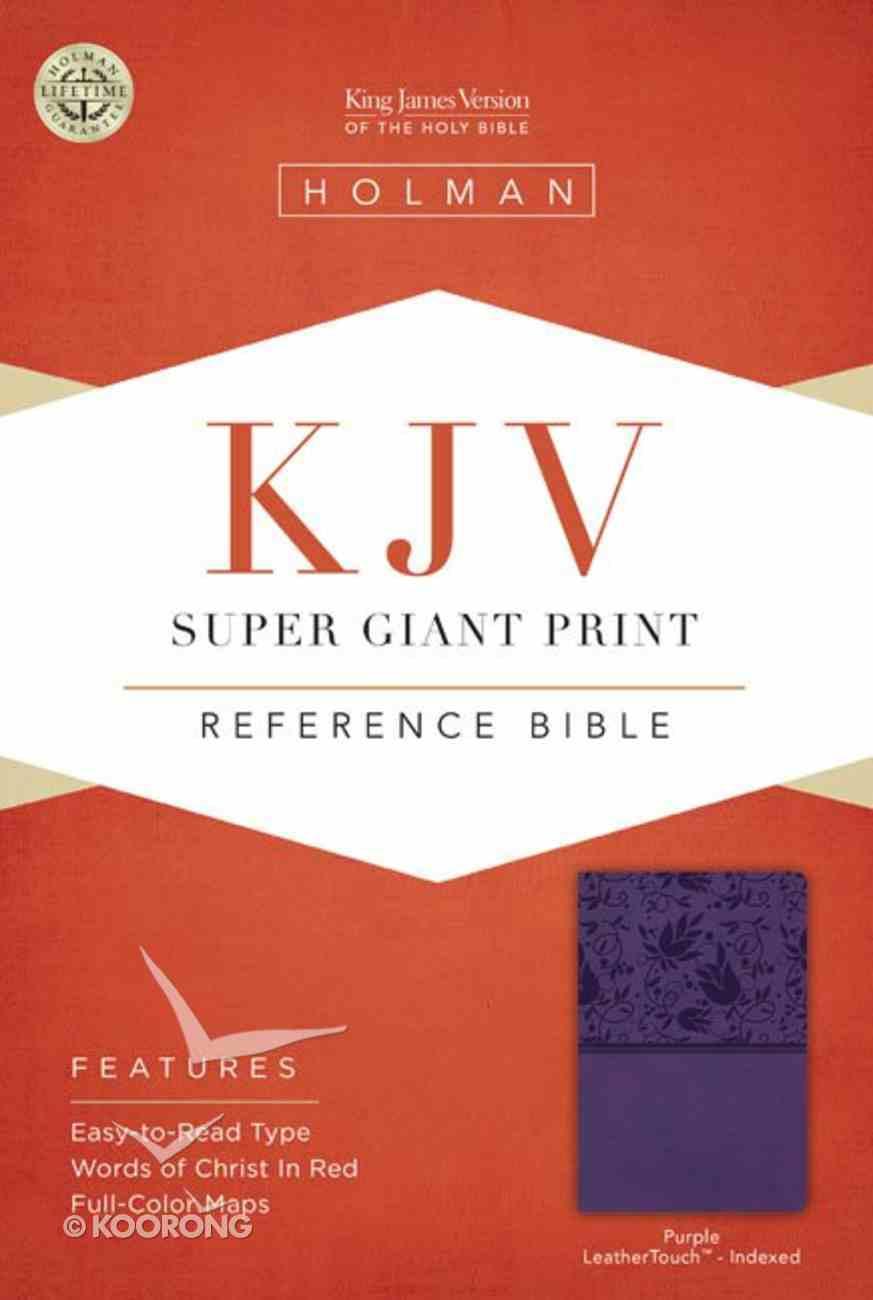 KJV Super Giant Print Reference Bible Purple Indexed Imitation Leather