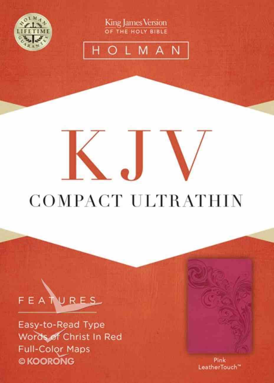 KJV Compact Ultrathin Bible Pink Imitation Leather
