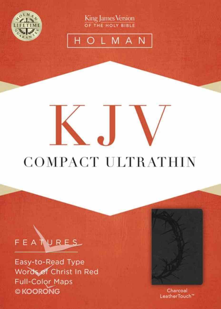 KJV Compact Ultrathin Bible Charcoal Imitation Leather