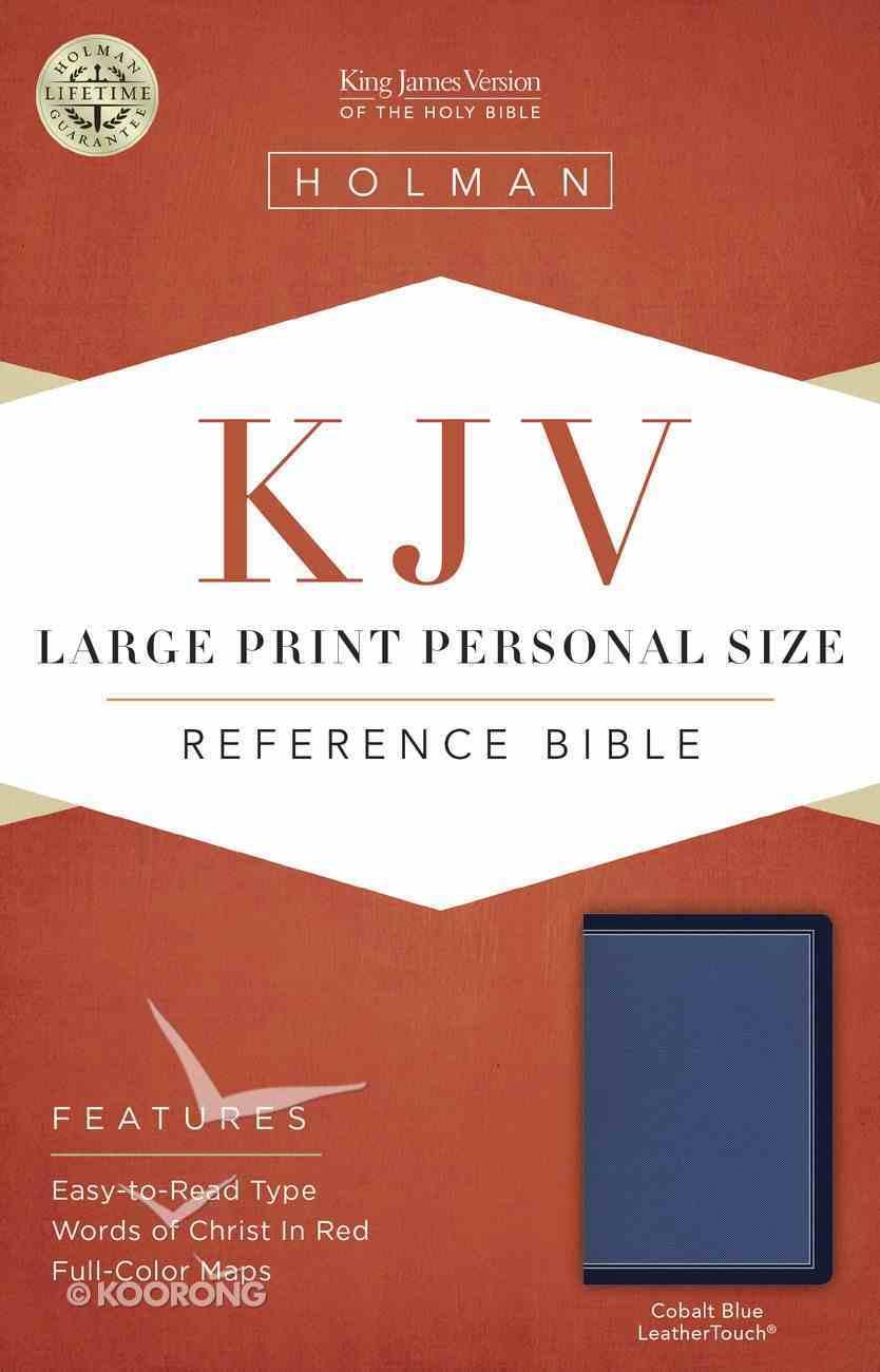KJV Large Print Personal Size Reference Bible Cobalt Blue Imitation Leather