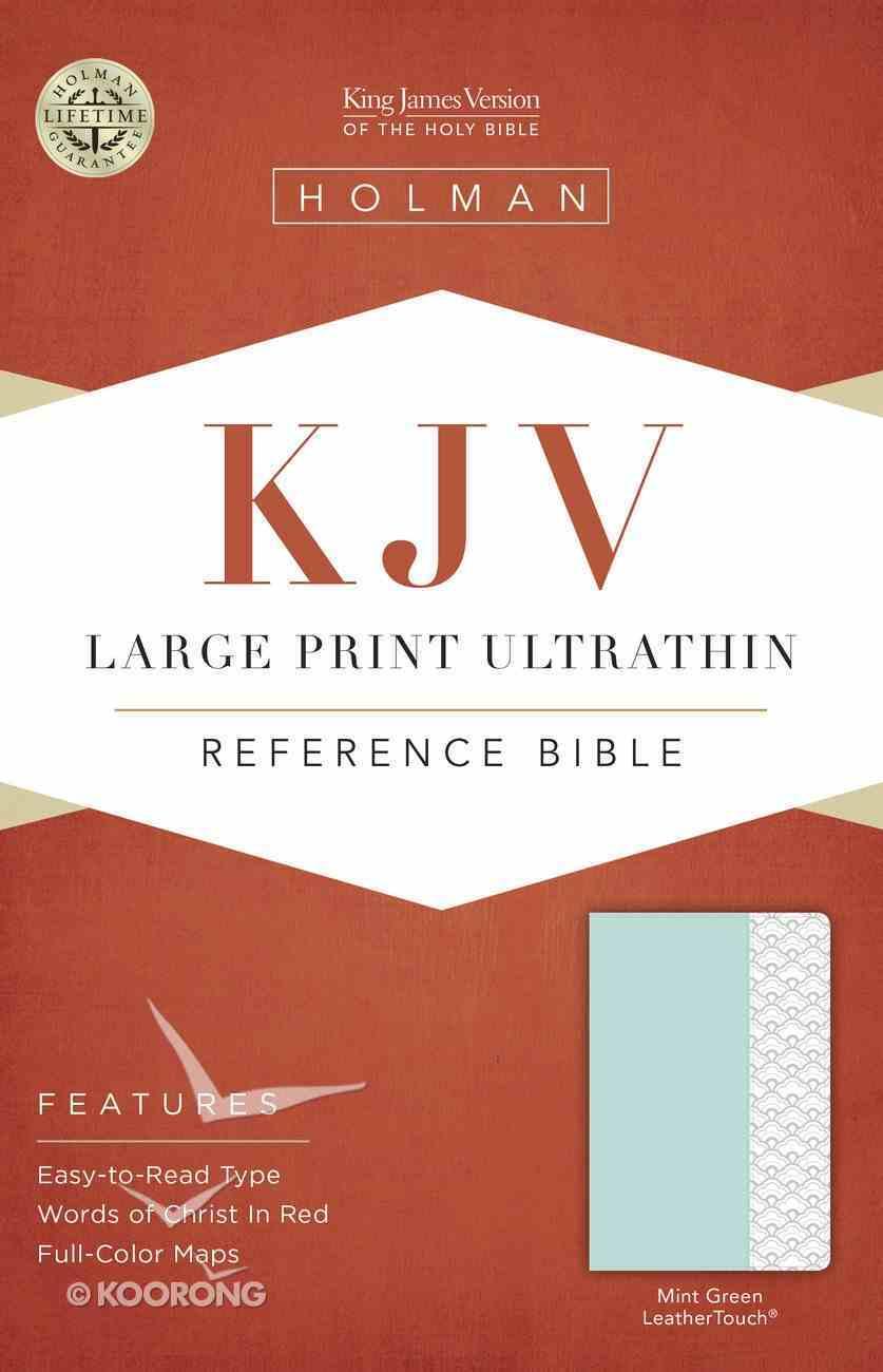 KJV Large Print Ultrathin Reference Bible Mint Green Imitation Leather