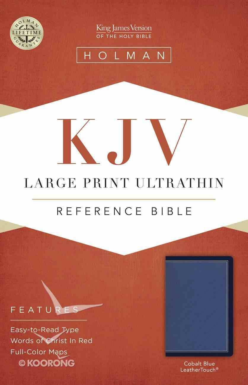 KJV Large Print Ultrathin Reference Bible Cobalt Blue Imitation Leather