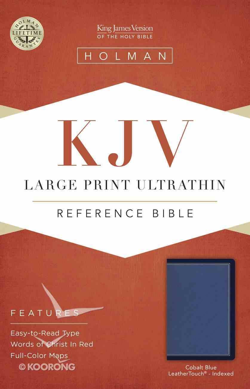KJV Large Print Ultrathin Reference Bible Cobalt Blue Indexed Imitation Leather