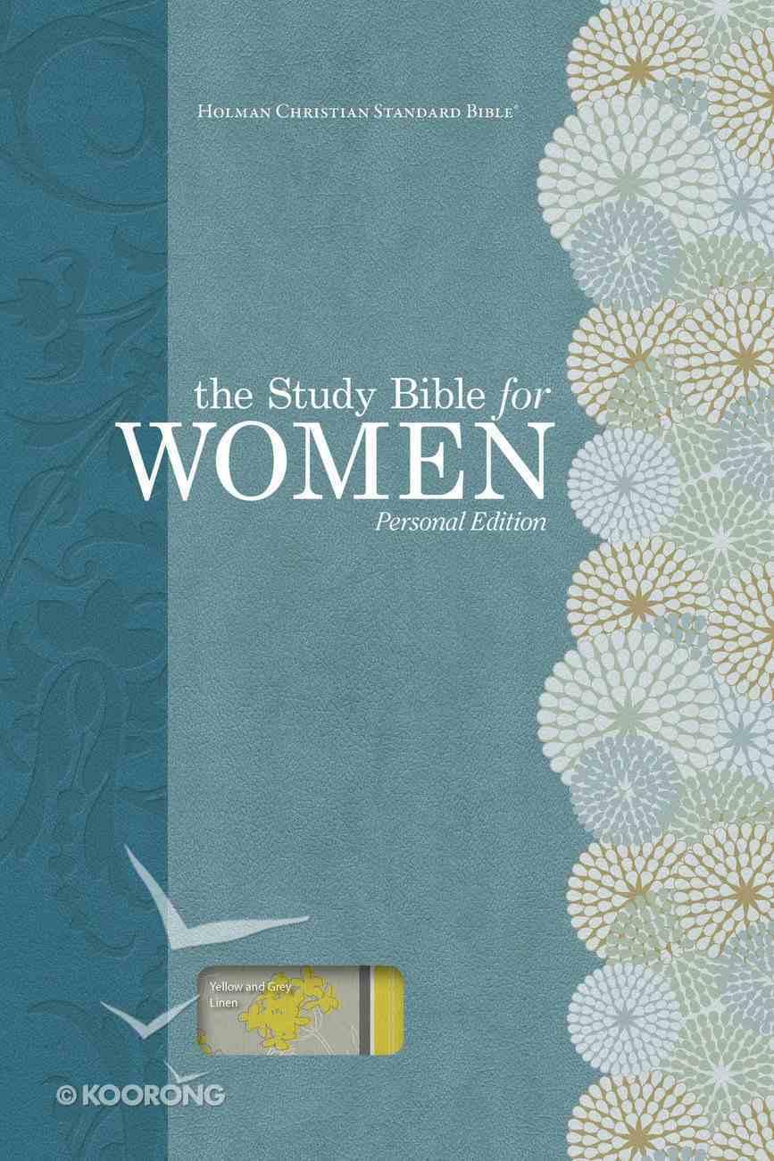 HCSB Study Bible For Women Personal Size Yellow/Gray Linen Hardback