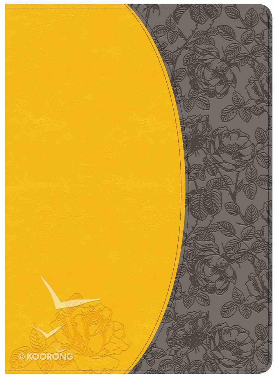 NKJV Holman Study Bible Canary/Slate Grey Imitation Leather