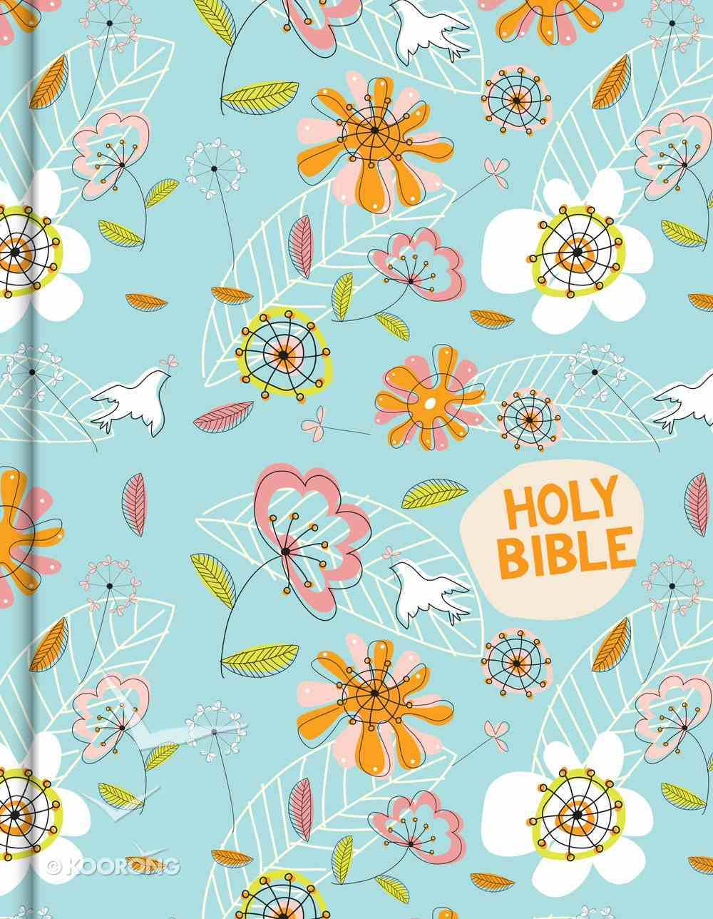 CSB Journal and Draw Bible For Kids Blue Floral Hardback