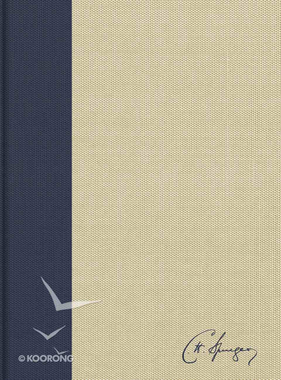 KJV Spurgeon Study Bible Navy/Tan Hardback