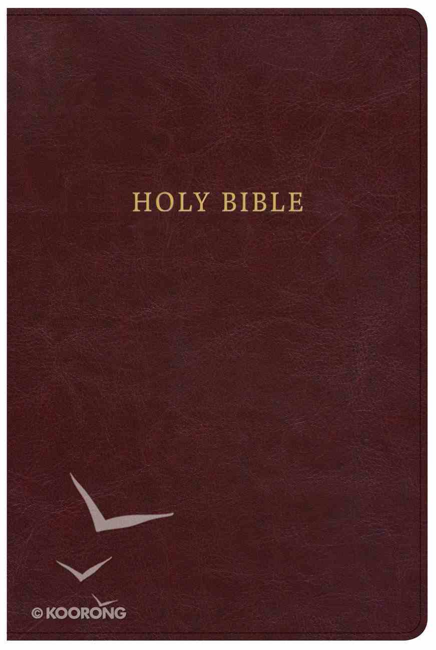 KJV Large Print Personal Size Reference Bible Classic Burgundy (Red Letter Edition) Imitation Leather