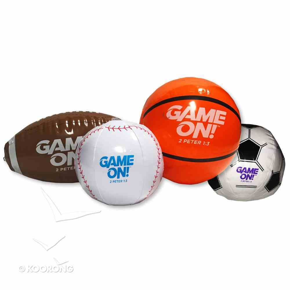 Small Inflatable Sports Balls (4 Pack) (Vbs 2018 Game On! Series) Soft Goods