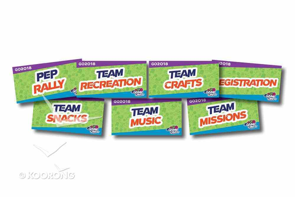 Rotation Signs (7 Pack) (Vbs 2018 Game On! Series) Poster