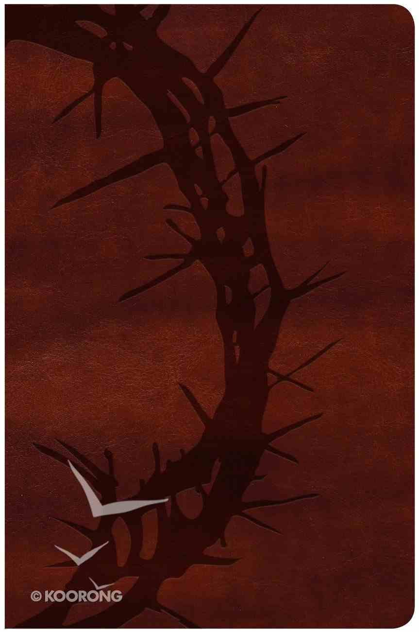 KJV Large Print Personal Size Reference Bible Brown Crown of Thorns Imitation Leather