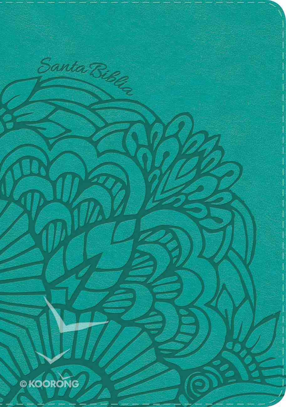 Rvr 1960 Biblia Letra Gigante Aqua (Red Letter Edition) (Giant Print) Imitation Leather