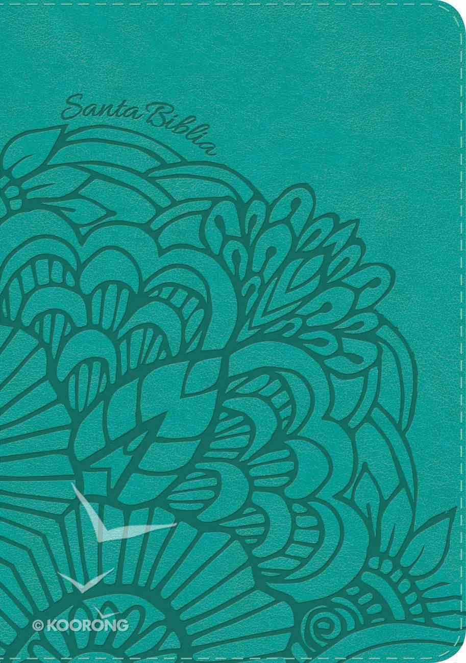 Rvr 1960 Biblia Letra Grande Tamano Manual Aqua (Red Letter Edition) (Giant Print) Imitation Leather