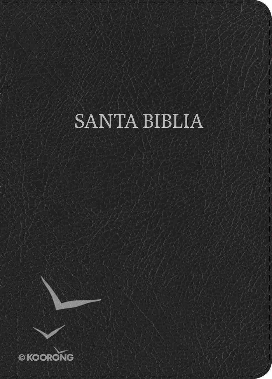 Rvr 1960 Biblia Compacta Letra Grande Negro (Red Letter Edition) (Large Print Compact) Bonded Leather