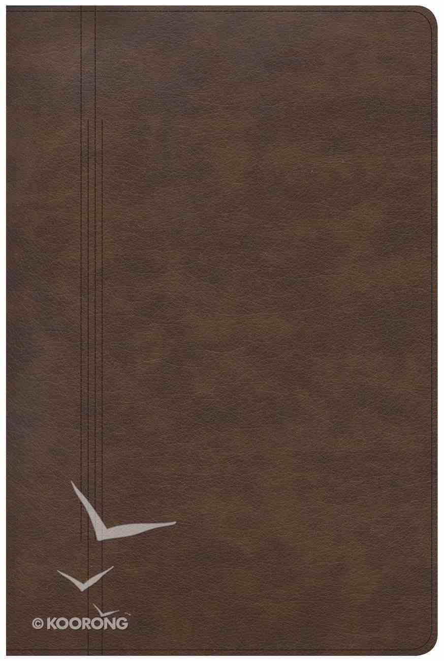 CSB Life Restoration Bible Brown Indexed Imitation Leather