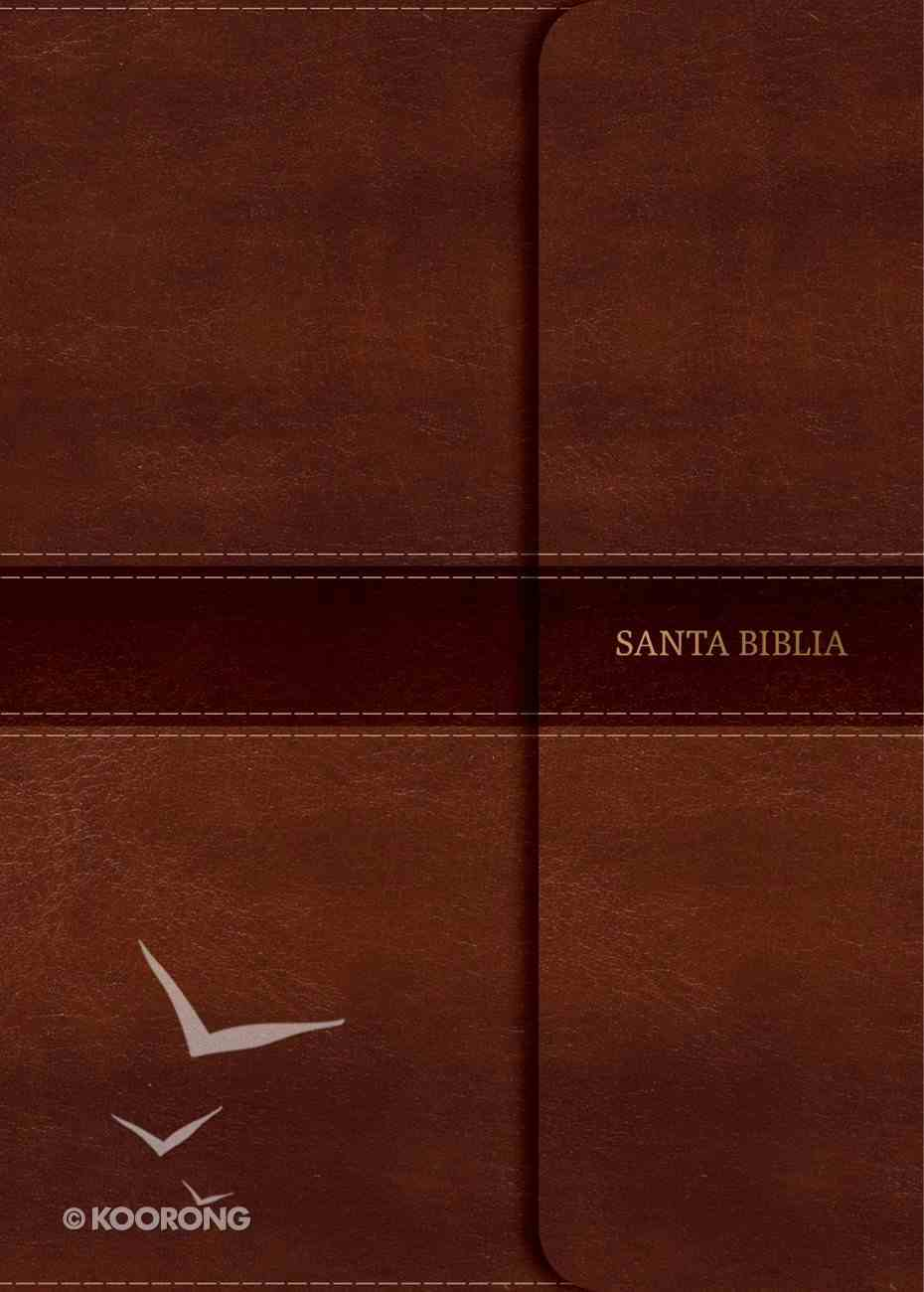 Rvr 1960 Biblia Letra Grande Tamano Manual Marron Indice Y Solapa Con Iman (Red Letter Edition) (Giant Print Magnetic Flap) Imitation Leather