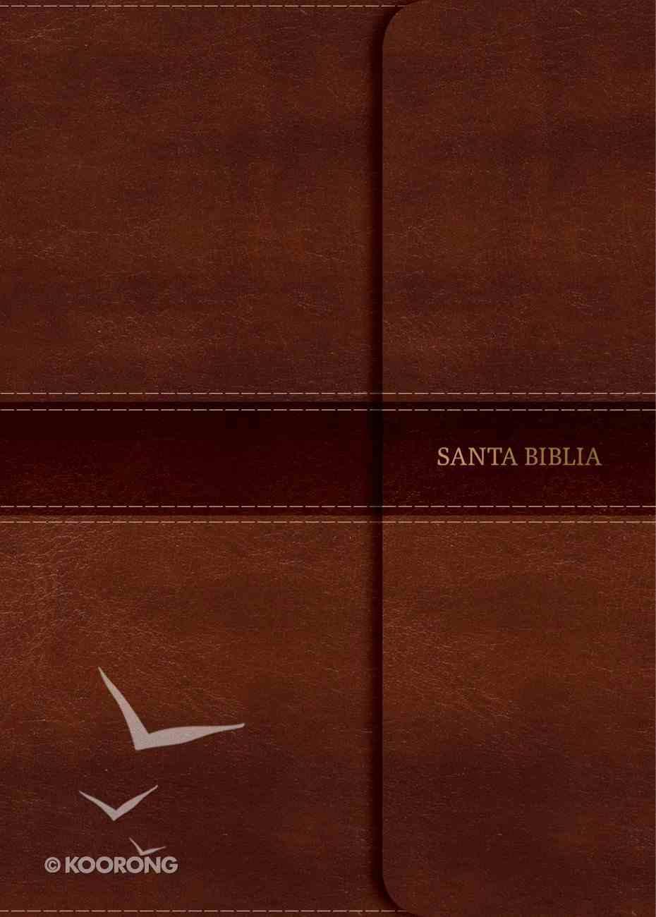 Rvr 1960 Biblia Compacta Letra Grande Marron Solapa Con Iman (Red Letter Edition) (Large Print Magnetic Flap) Imitation Leather