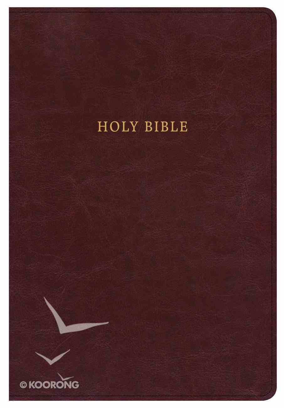 KJV Super Giant Print Reference Bible Classic Burgundy (Red Letter Edition) Imitation Leather