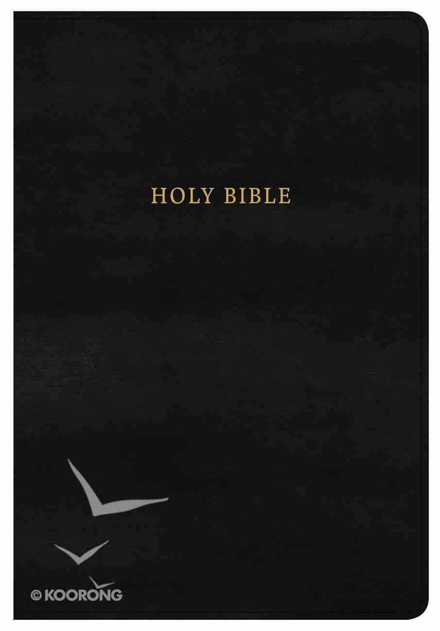 NKJV Super Giant Print Reference Bible Classic Black (Red Letter Edition) Imitation Leather