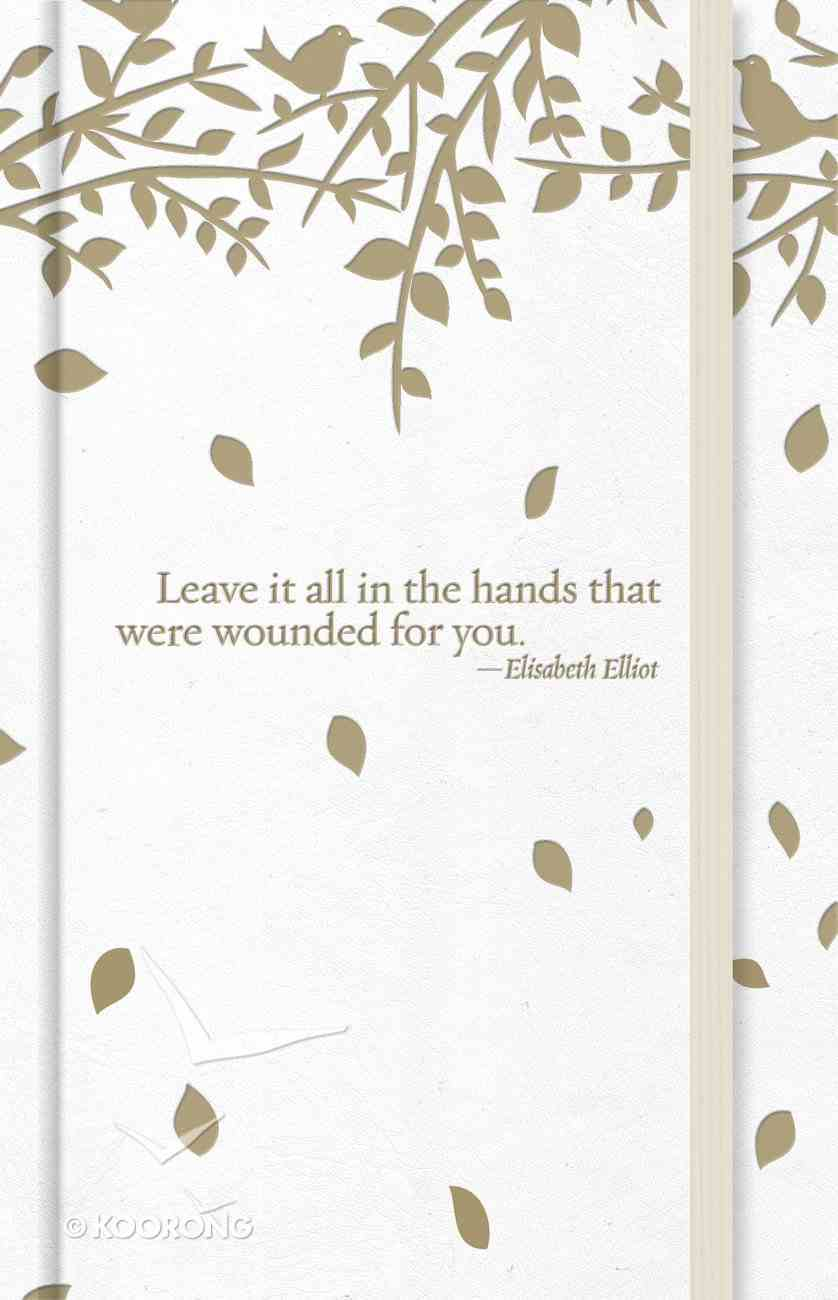 """Journal: """"Leave It All..."""" Leaves, Prayer Journal With Elastic Band Hardback"""