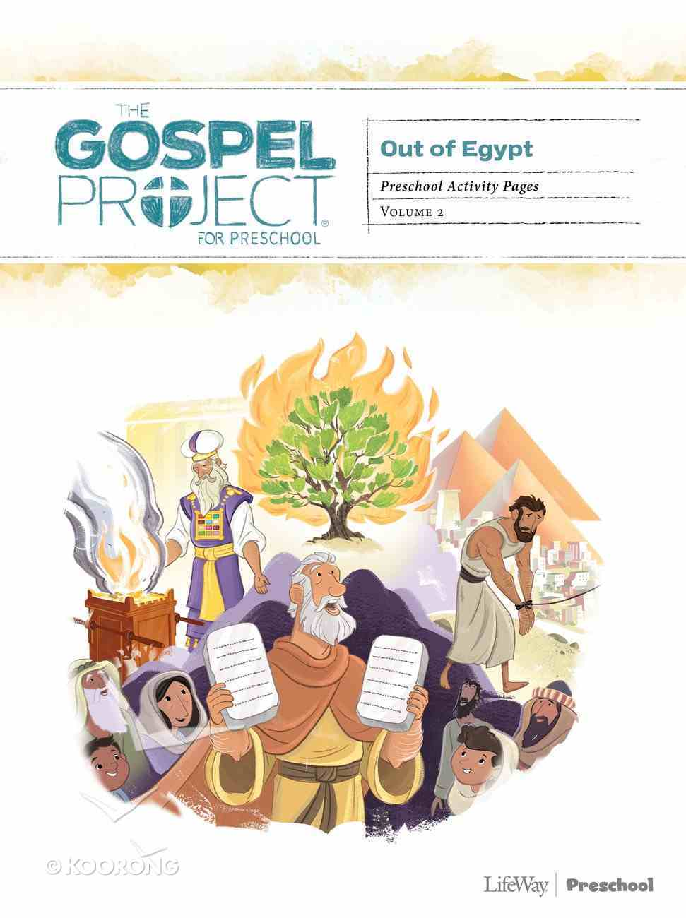 Put of Egypt (Preschool Activity Pages) (#02 in The Gospel Project For Kids Series) Paperback