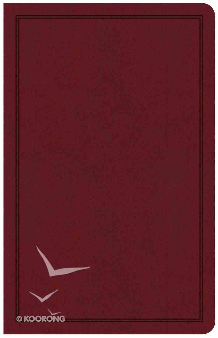 CSB Deluxe Gift Bible Burgundy (Red Letter Edition) Imitation Leather
