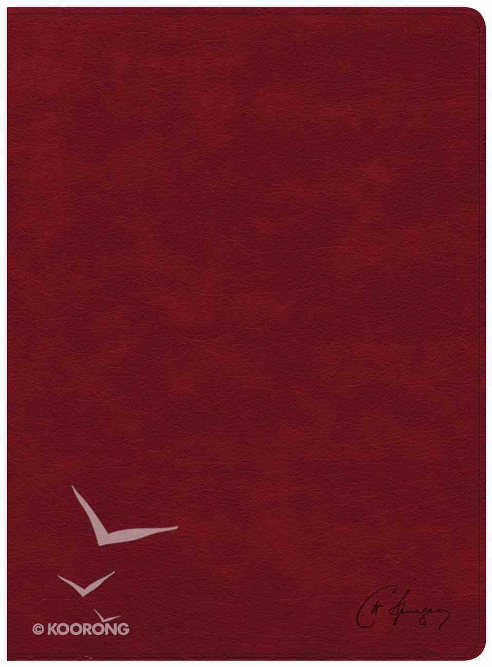 KJV Spurgeon Study Bible Crimson Imitation Leather