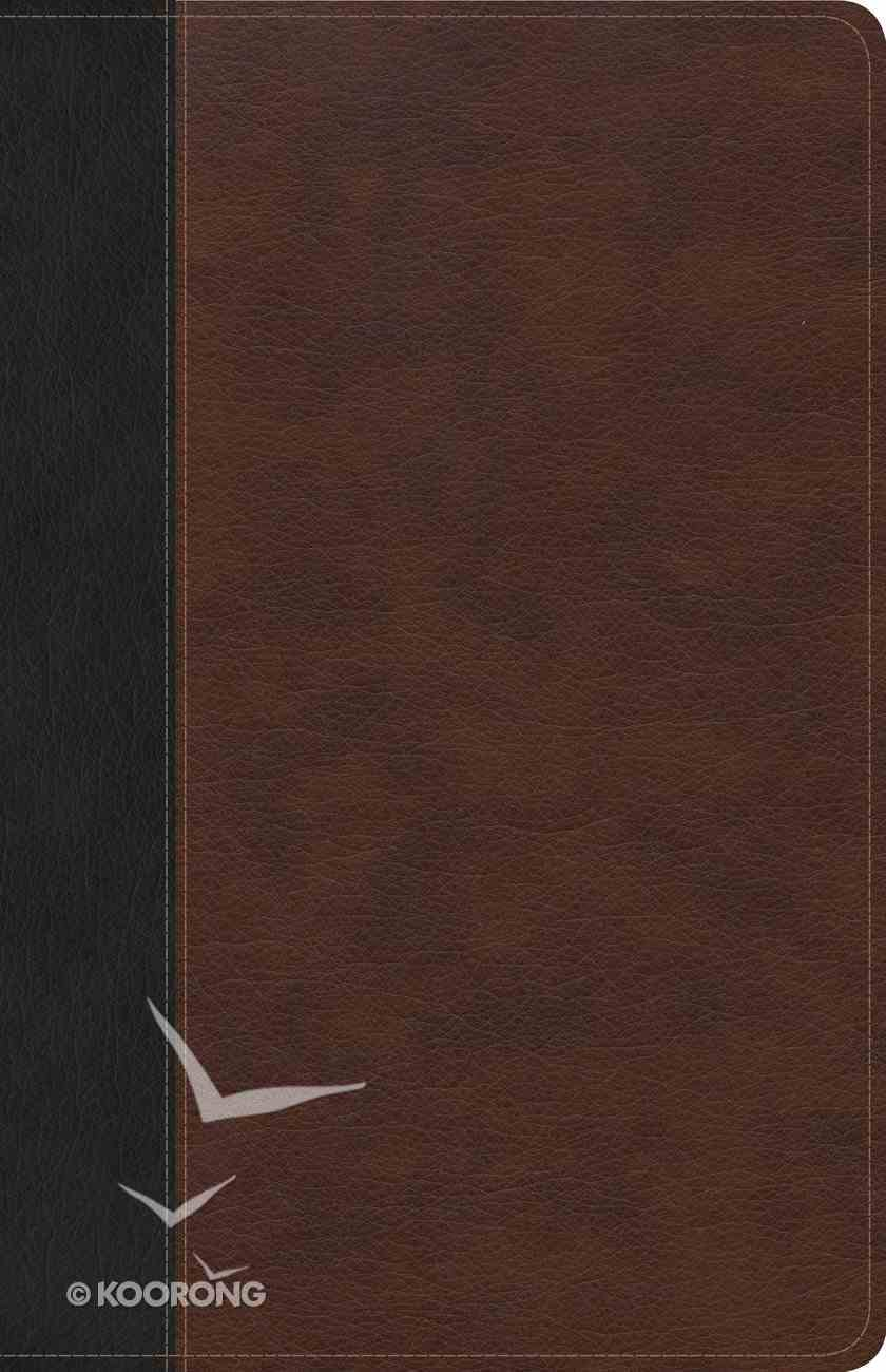 CSB Ultrathin Bible Brown/Black Indexed (Red Letter Edition) Imitation Leather