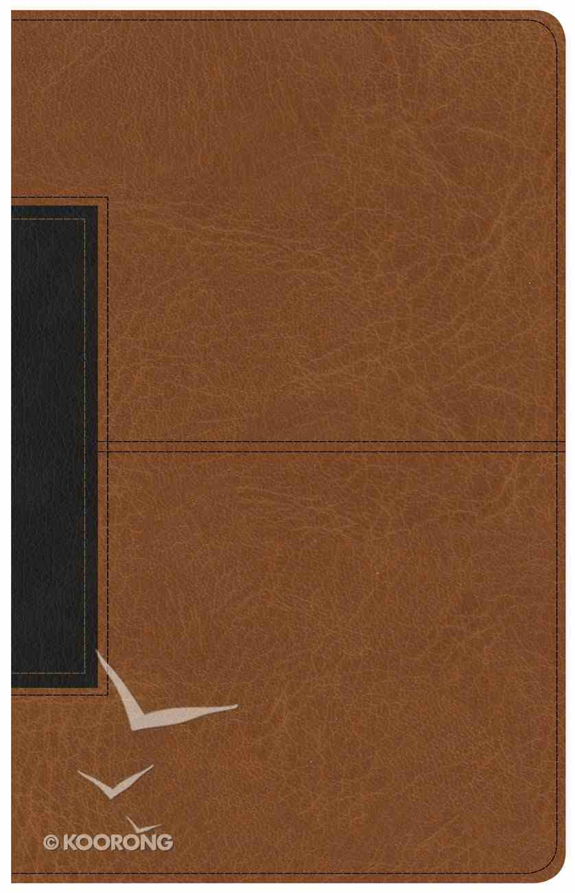 CSB Single-Column Personal Size Bible Tan/Black (Black Letter Edition) Imitation Leather
