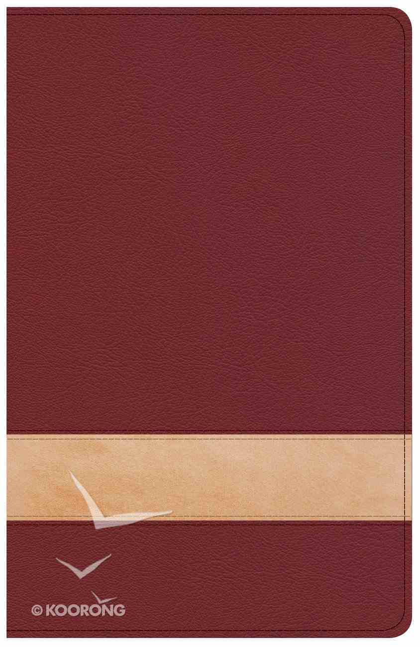 CSB Large Print Personal Size Reference Bible Crimson/Tan (Red Letter Edition) Imitation Leather