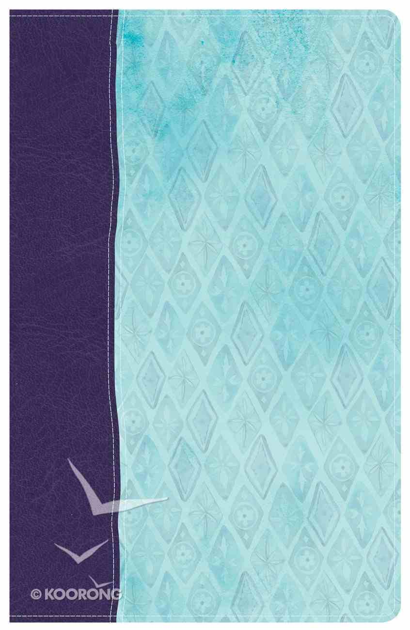 NKJV Daily Devotional Bible For Women Purple/Blue (Black Letter Edition) Imitation Leather