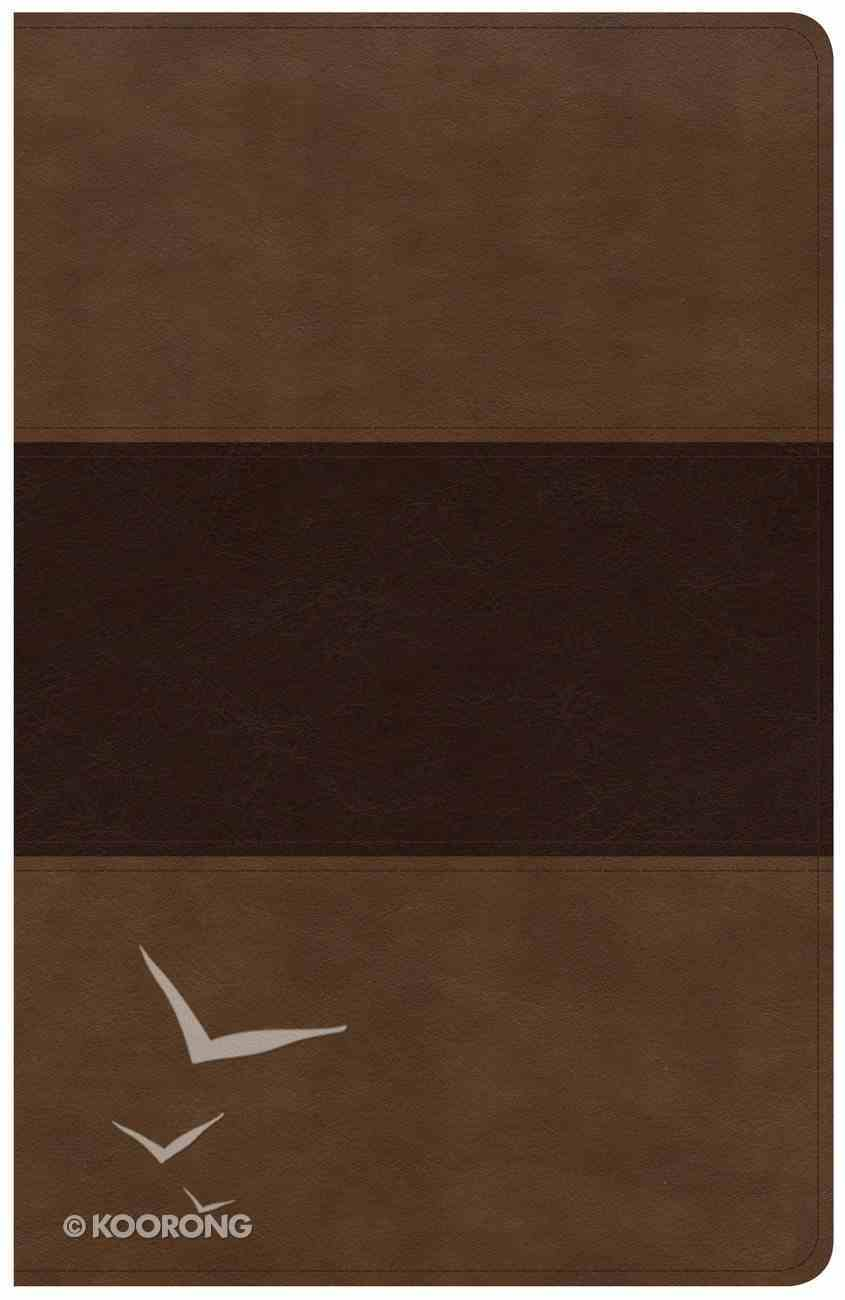 KJV Large Print Personal Size Reference Bible Saddle Brown Indexed (Red Letter Edition) Imitation Leather