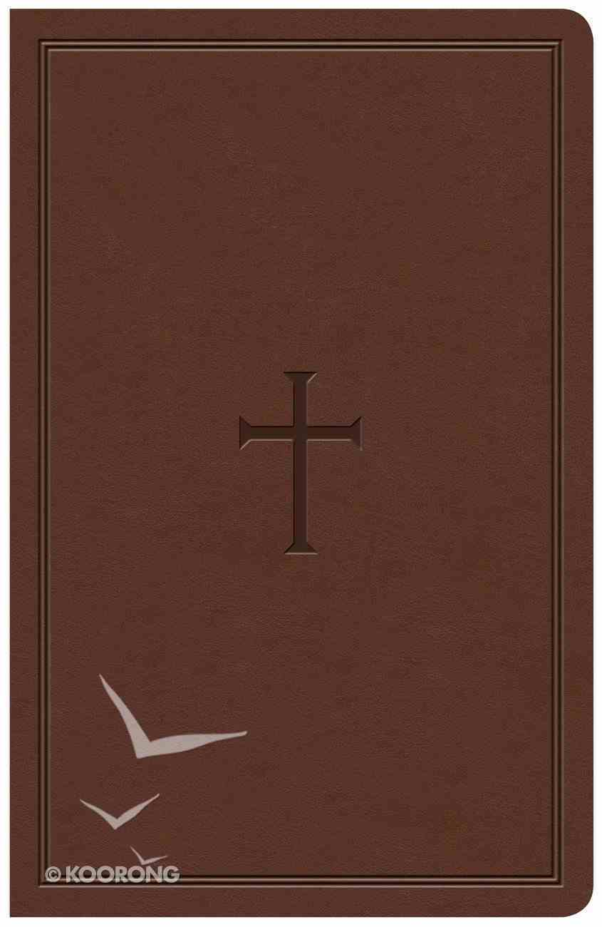 KJV Large Print Personal Size Reference Bible Brown Indexed (Red Letter Edition) Imitation Leather