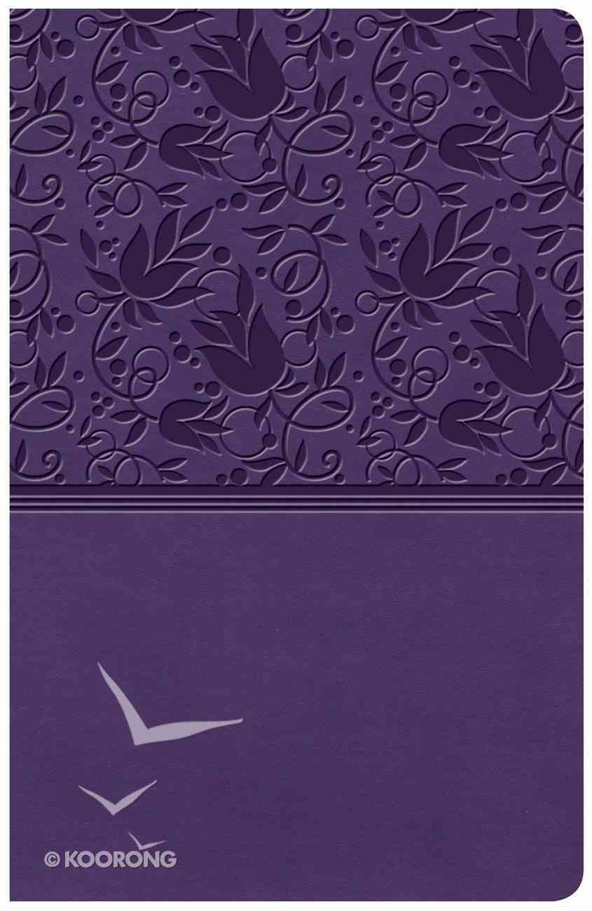 KJV Large Print Personal Size Reference Bible Purple (Red Letter Edition) Imitation Leather