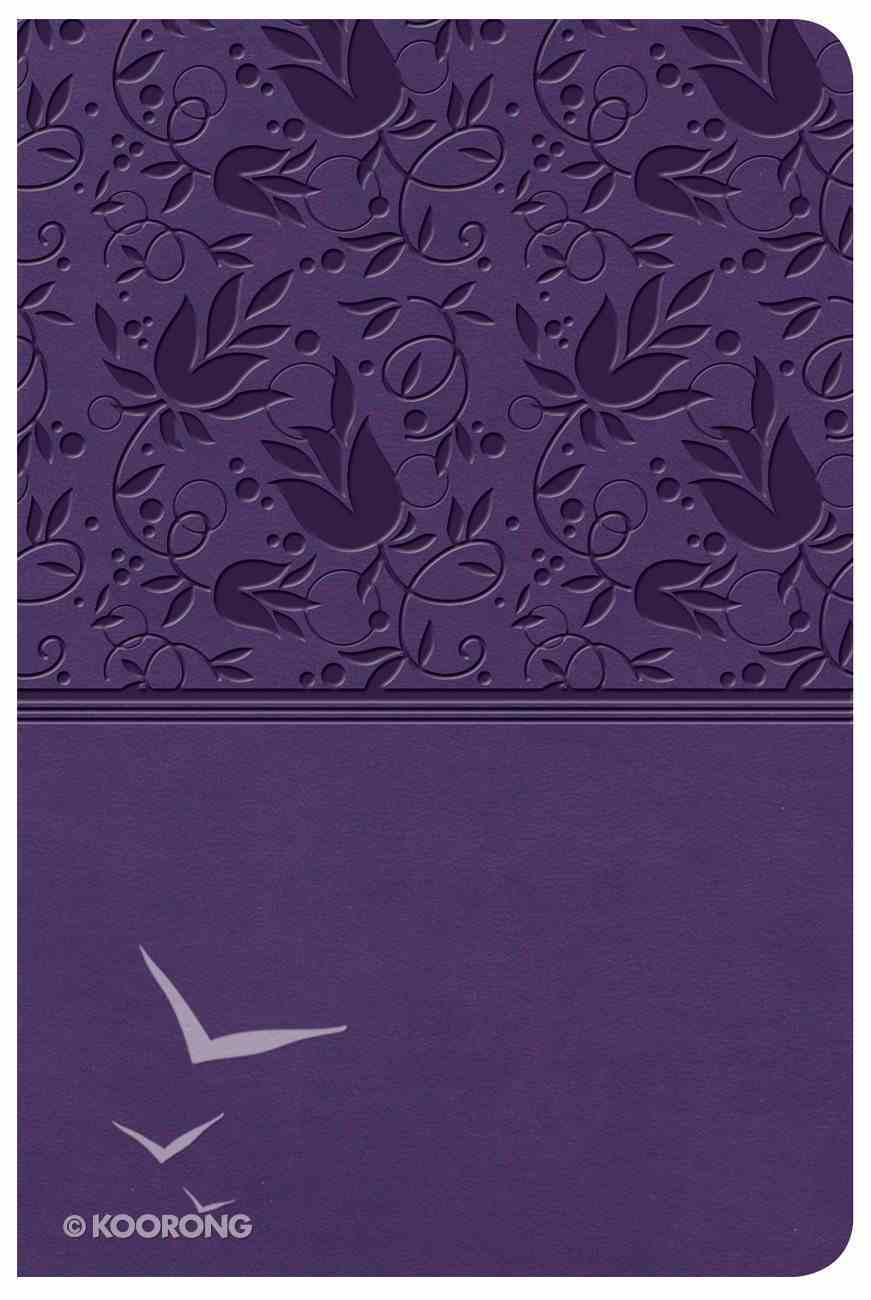 KJV Large Print Compact Reference Bible Purple (Red Letter Edition) Imitation Leather