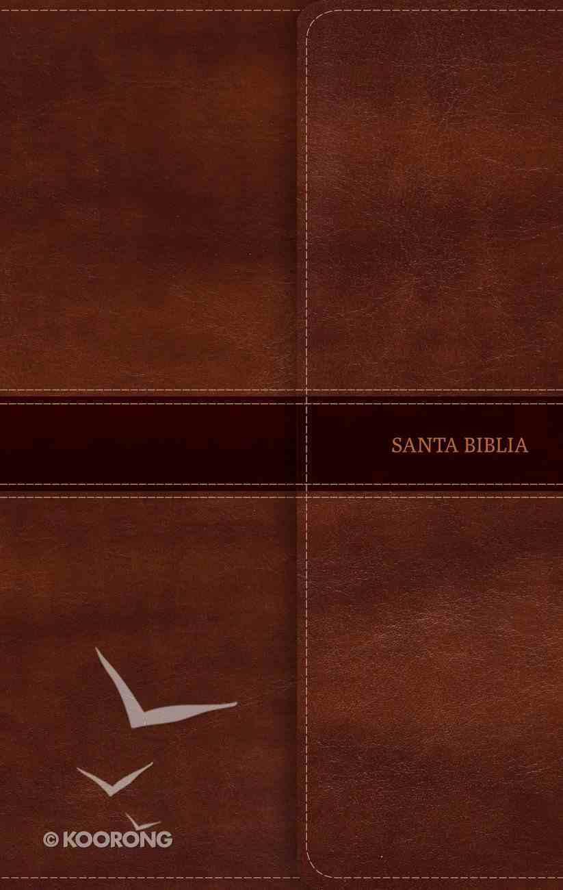 Nvi Biblia Ultrafina Marron Indice Y Solapa Con Iman Bonded Leather