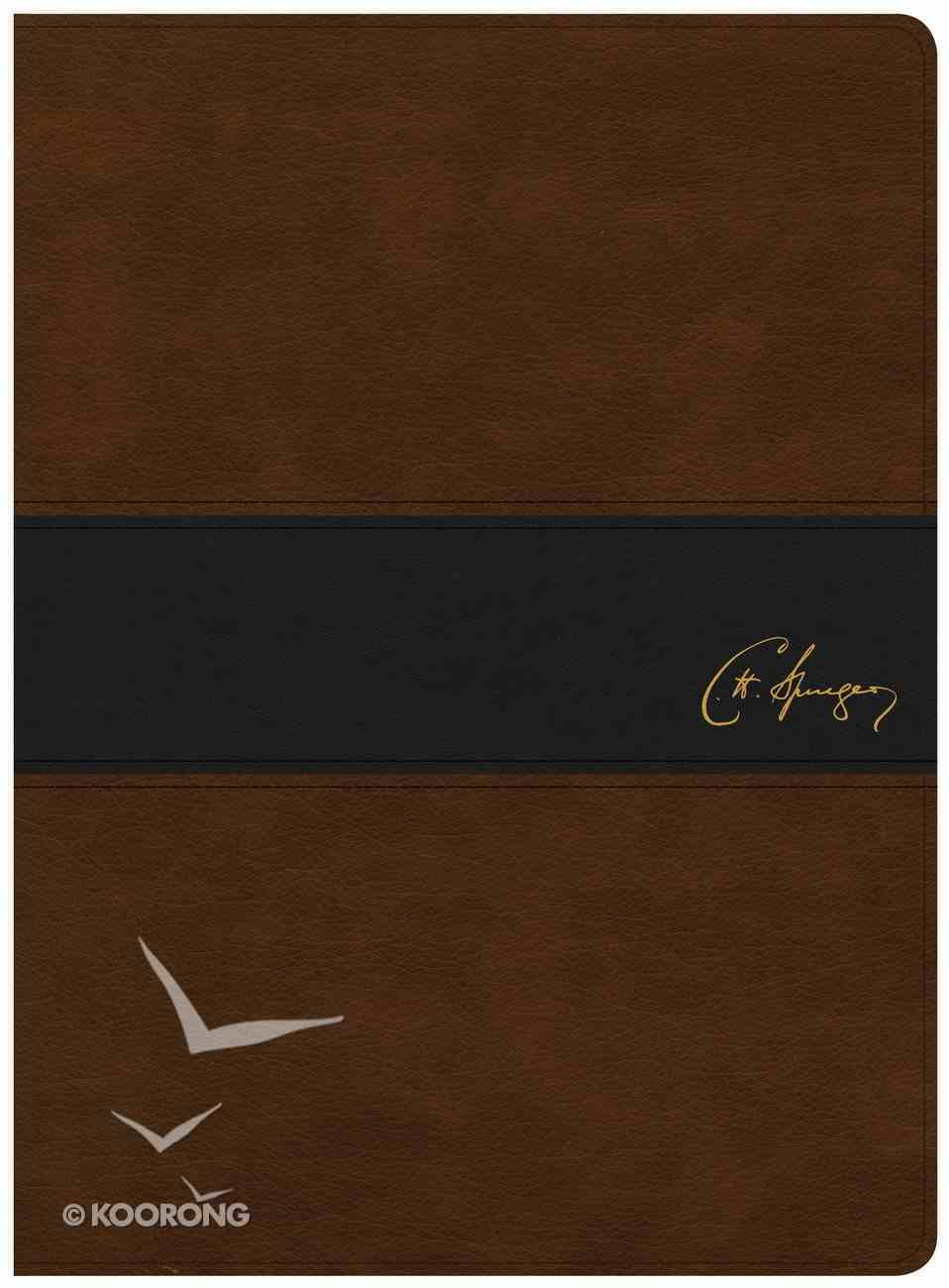 KJV Spurgeon Study Bible Black/Brown Imitation Leather