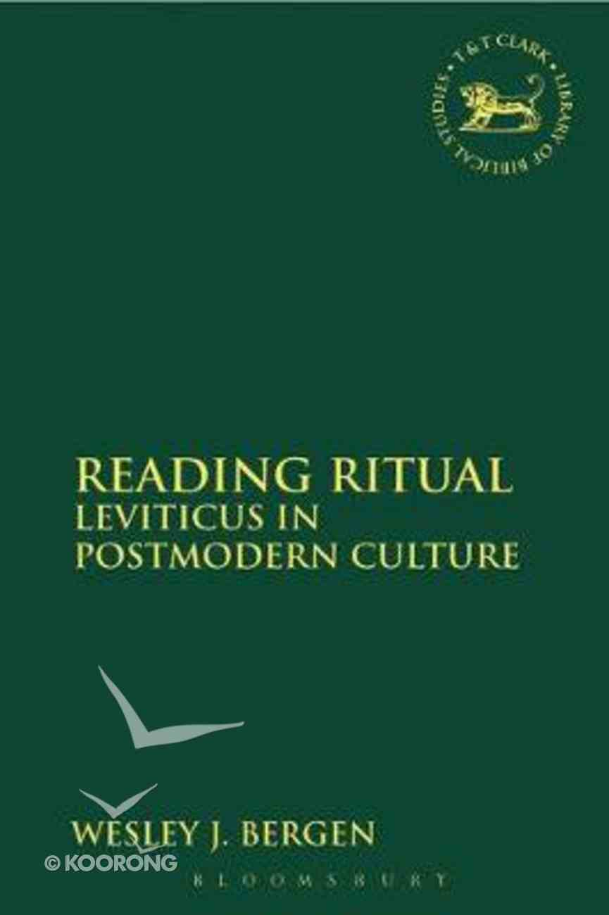 Reading Ritual (Journal For The Study Of The Old Testament Supplement Series) Hardback