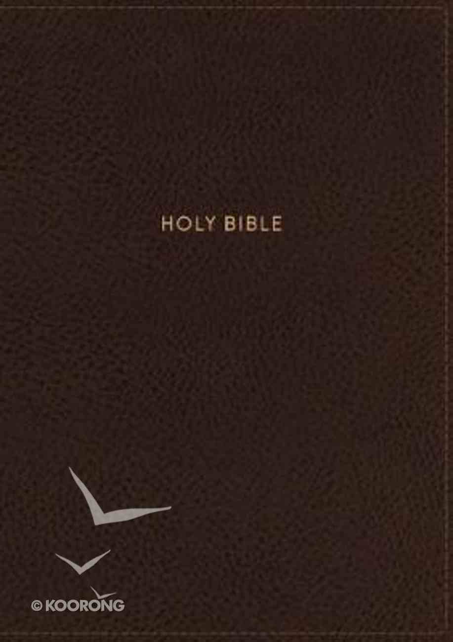 NKJV Thinline Reference Bible Large Print Brown (Red Letter Edition) Imitation Leather