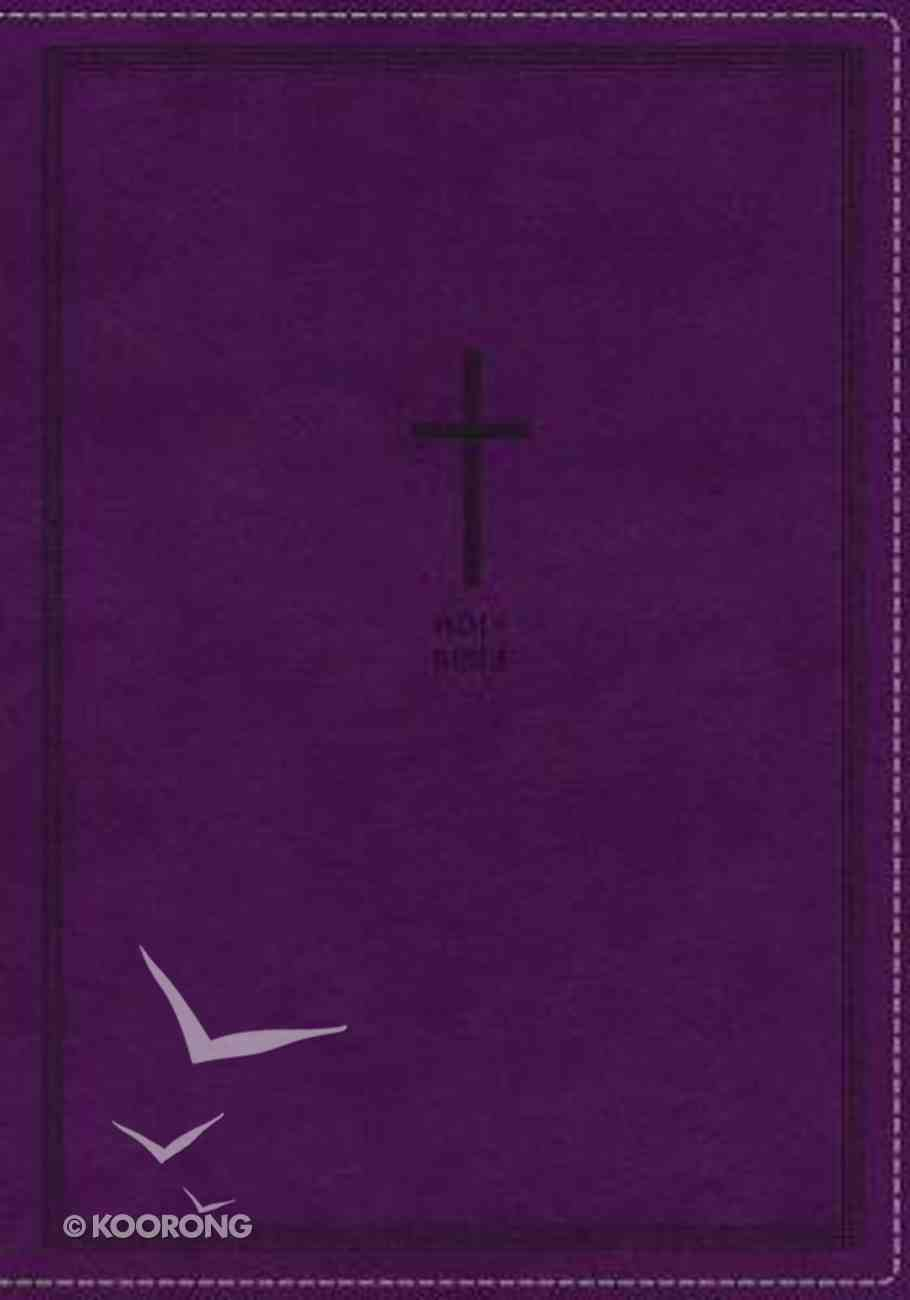 NKJV Thinline Reference Bible Large Print Purple (Red Letter Edition) Premium Imitation Leather