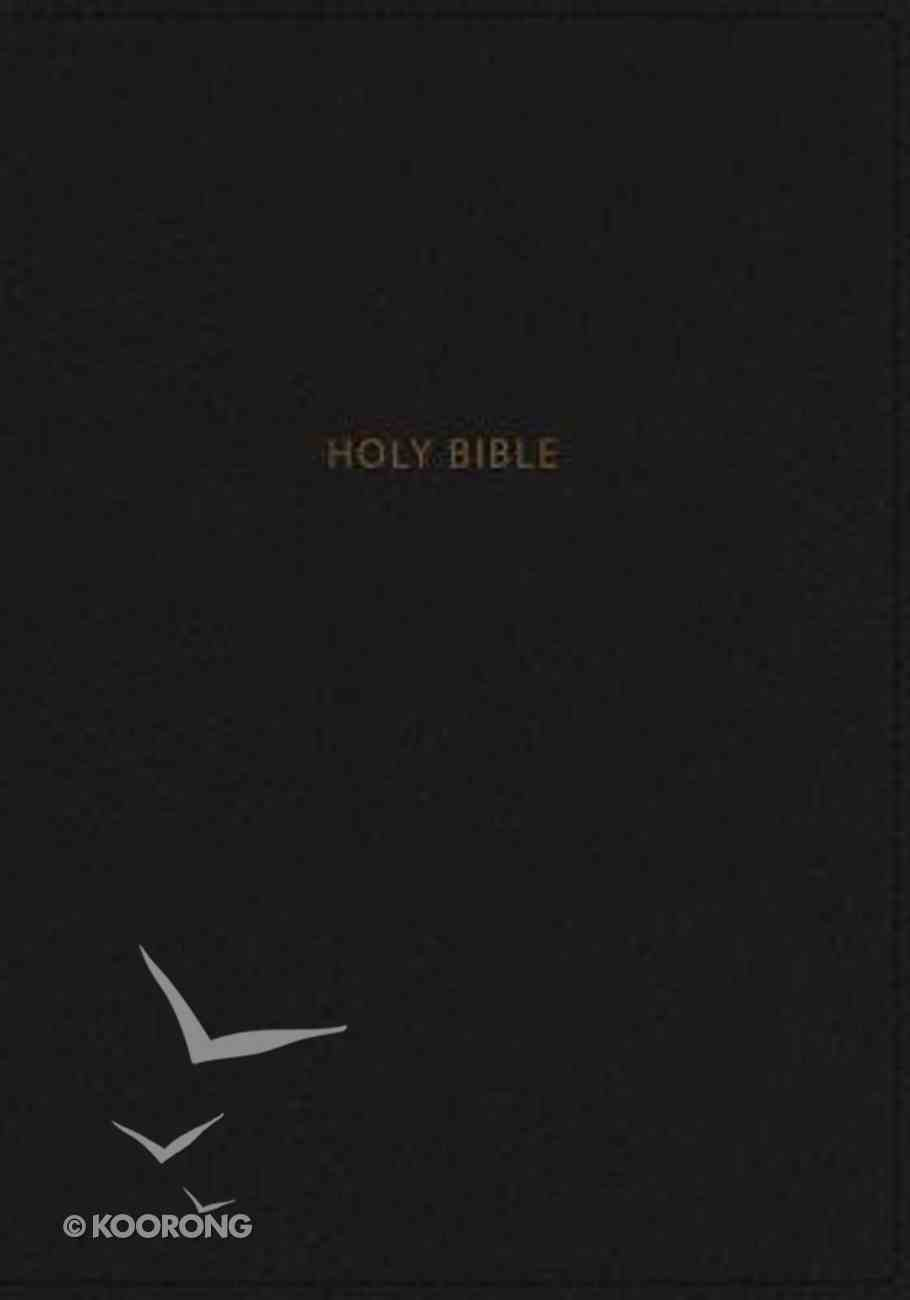 NKJV Deluxe Thinline Reference Bible Large Print Black (Red Letter Edition) Premium Imitation Leather