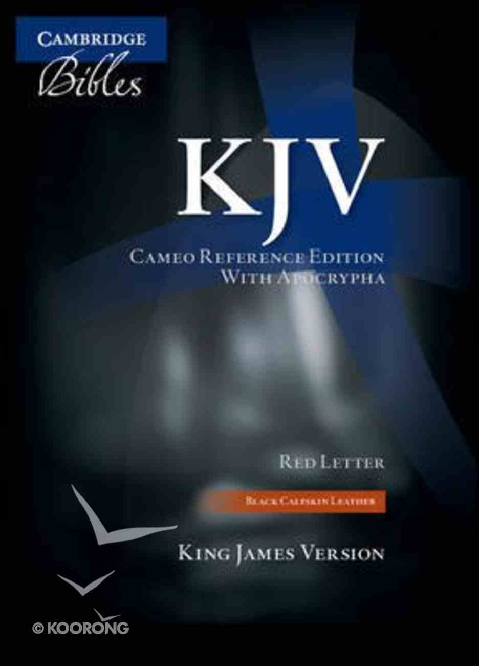 KJV Cameo Reference With Apocrypha Black (Red Letter Edition) Genuine Leather