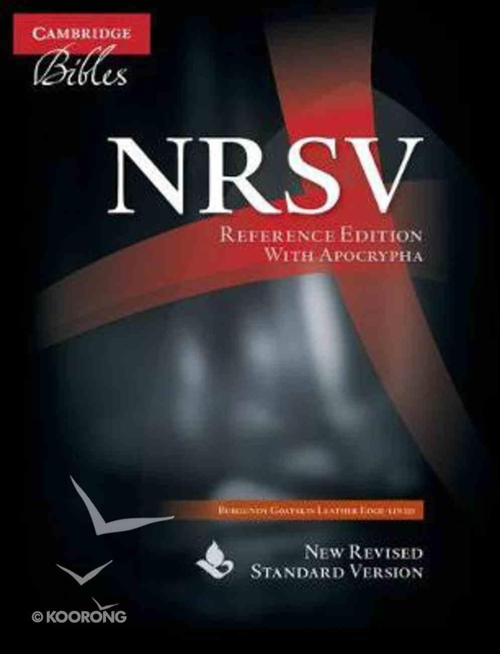 NRSV Reference Bible With Apocrypha Burgundy Goatskin Genuine Leather