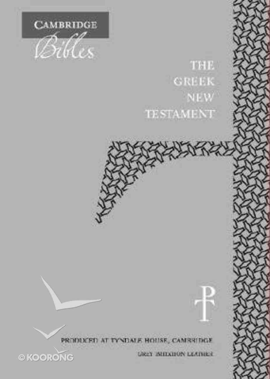 Greek New Testament Grey Imitation Leather