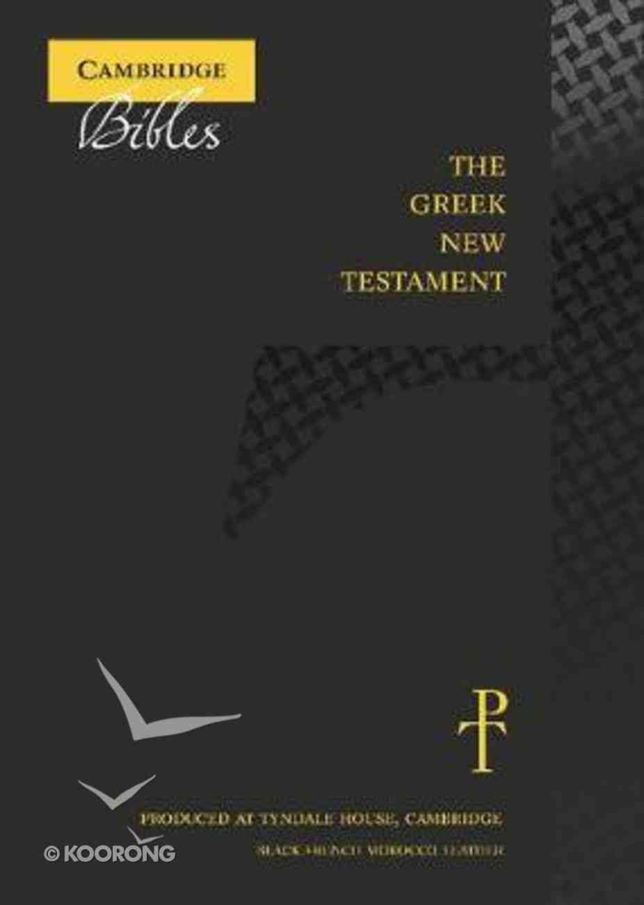 Greek New Testament Black Genuine Leather