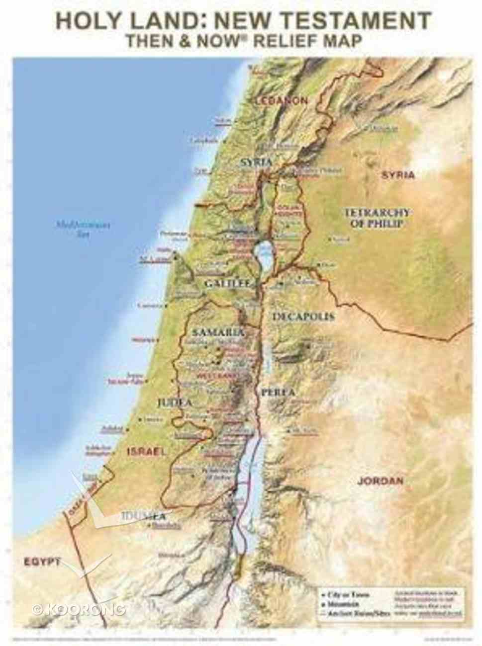 Holy Land: New Testament Then & Now Relief Map Poster
