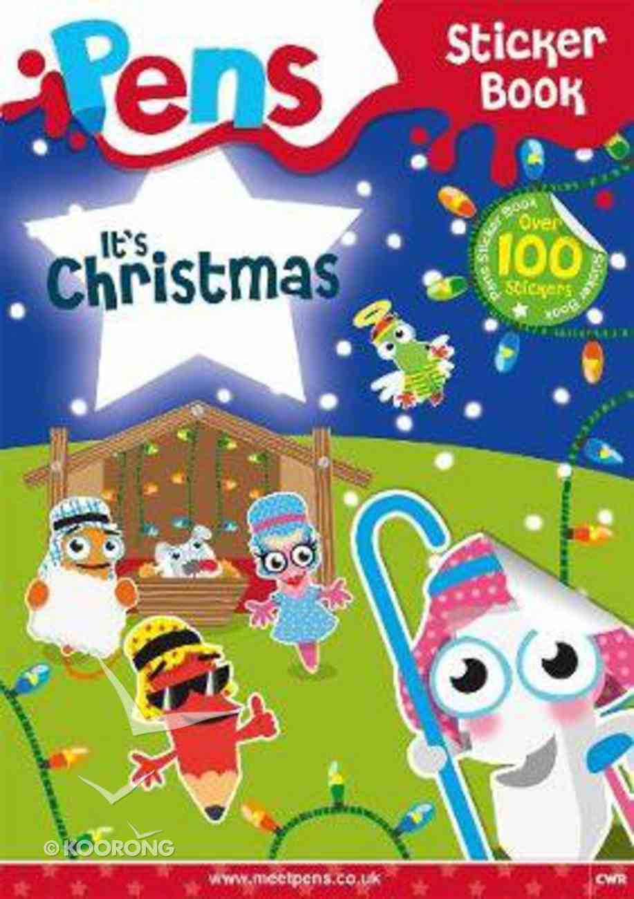 Pens Sticker Book: It's Christmas Paperback