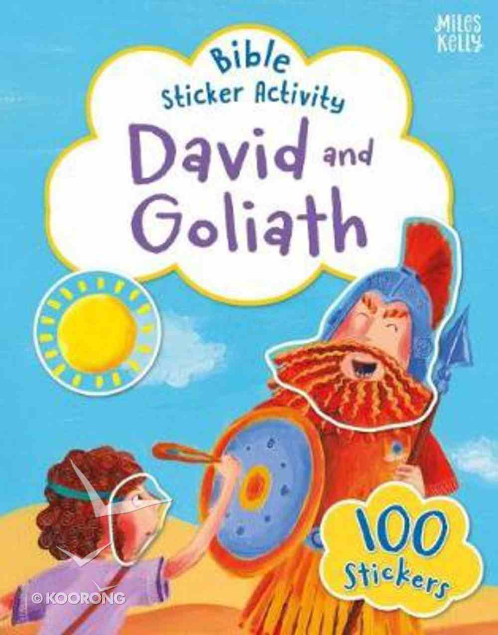 Bible Sticker Activity: David and Goliath Paperback